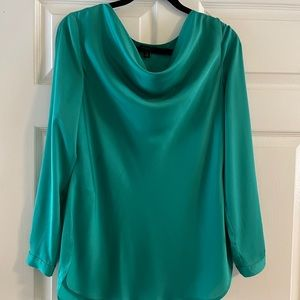 Ann Taylor green silk blouse, gently used M medium